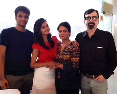 Manav Singh with his family   The Probe archives