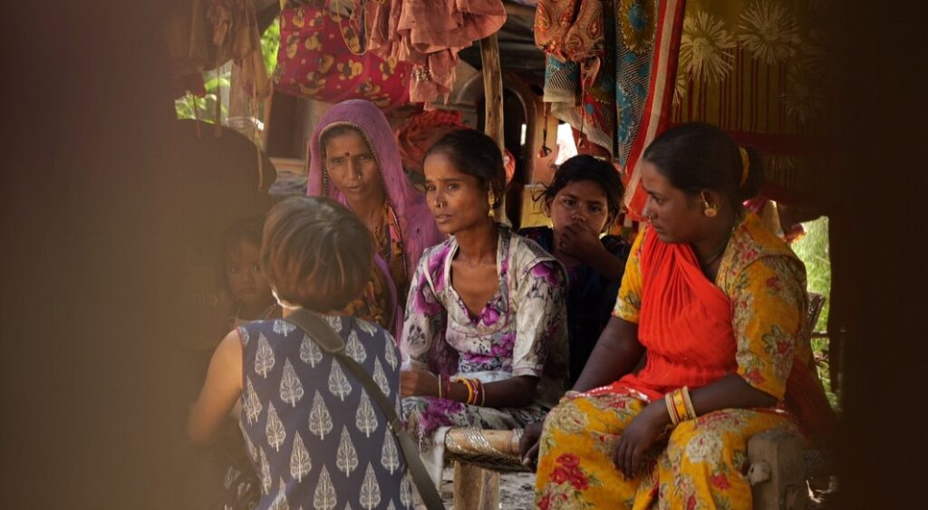 Residents of Yamuna Khadar Jhuggi speaking about menstruation